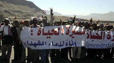 Yemen forces attack 'March for Life'