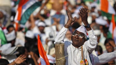 Indian anti-graft activist ends fast
