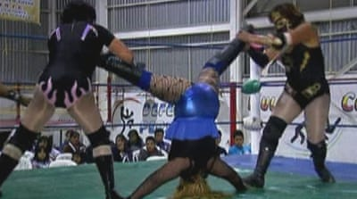 Women wrestle in on the action