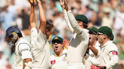 Aussies wrap up first Test
