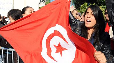 The goals of the revolution in Tunisia have not yet been achieved but the country is seeing some progress [AFP]