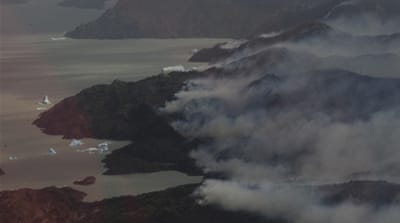Huge fire forces Chile to close national park