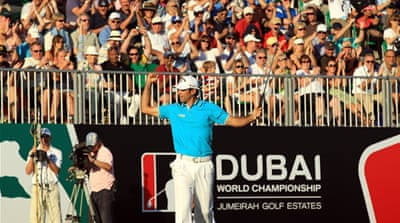 Alvaro Quiros pleases the crowd in Dubai