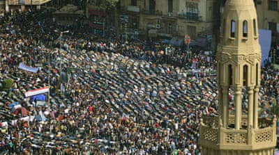 Protesters flood Egypt streets