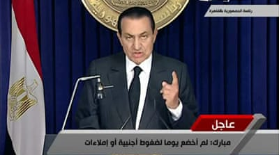 Defiant Mubarak refuses to resign