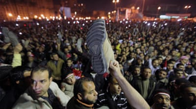 Anger on Cairo's Tahrir square