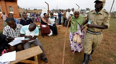 'Low turnout' in Uganda polls
