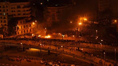 Violence flares in Cairo square