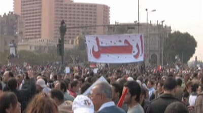 Egyptians vow to oust Mubarak