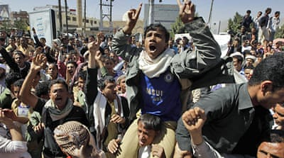 Shots fired at Yemen demonstration