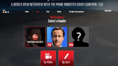 What would you ask David Cameron?