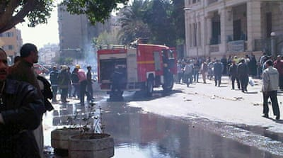 Egypt government buildings torched