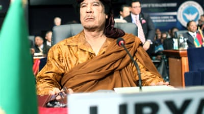 Gaddafi has lost it ...