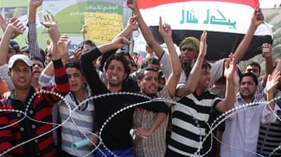 Protesters converge on Iraq capital