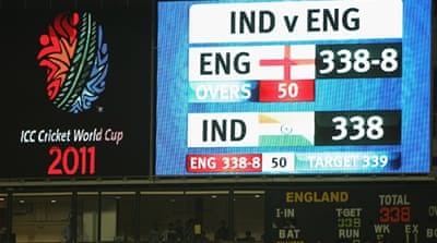 England and India tie in thriller