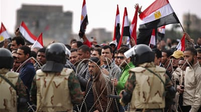 Egypt's army: On the sidelines