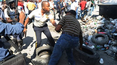 Haiti protesters want Preval out