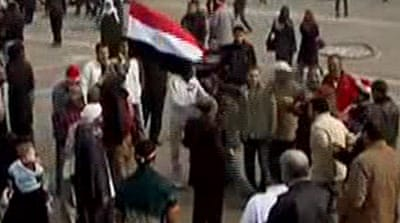 Protests continue in Tahrir Square