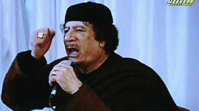 Gaddafi tells West to stay out of Libya