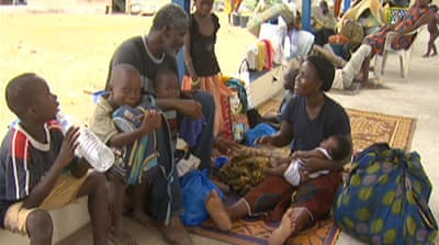 Thousands displaced by Ivorian violence