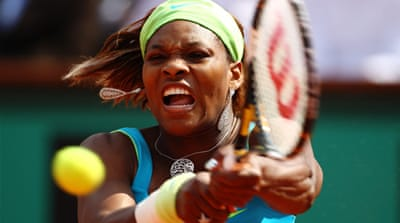 Serena treated for blood clot