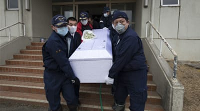 Japan's death toll tops 10,000