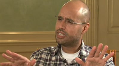 Saif Gaddafi talks to Al Jazeera