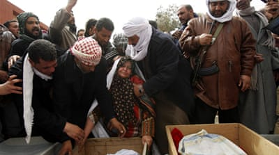 Funerals held for Libyan rebels