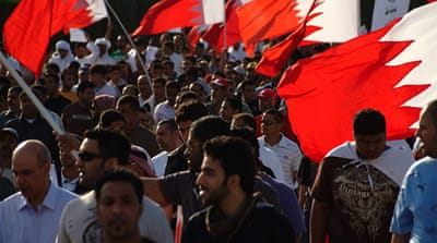 Bahrain youth march on state TV