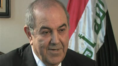 Allawi: Iraq power sharing a myth
