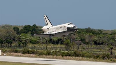 Space shuttle makes final touchdown