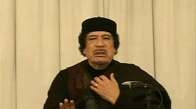Gaddafi blames unrest on foreigners