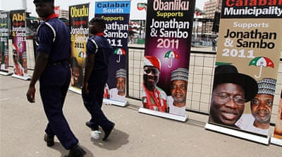 Nigeria beefs up security on election eve