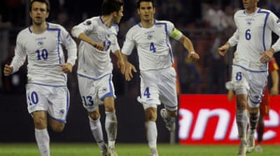 Bosnia banned from international football