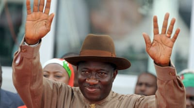 Jonathan and the ruling People's Democratic Party (PDP) face an election in 2015 [EPA]