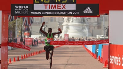 Mutai breaks London marathon record