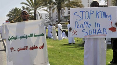 Oman protests resume