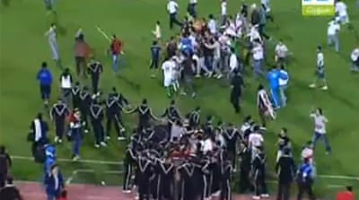 Chaos at African Champs League clash