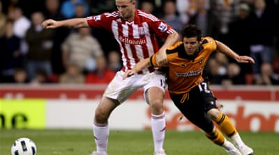 Stoke pile misery on Wolves