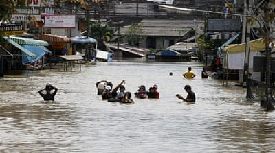 Heavy flooding continues in Thailand