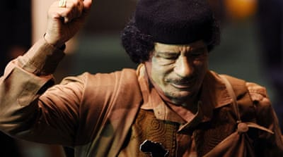 Contagious illusions of Gaddafi's power