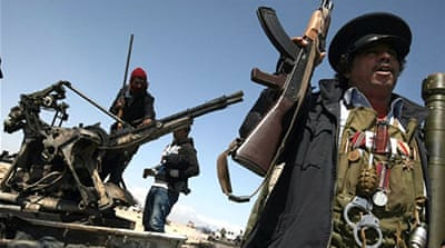 Libyan rebels find the going tough