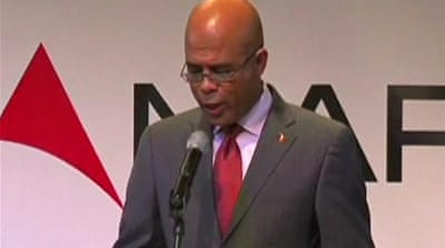 Martelly to take over battered Haiti