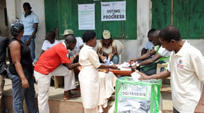 Vote counting under way in Nigeria
