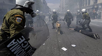 Greek unions stage anti-austerity strike