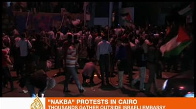 Security forces fire on Cairo 'Nakba' rally