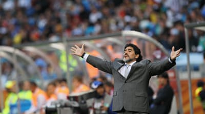 Maradona clashes with Al Shabab fans