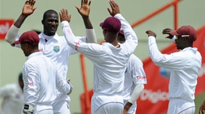 Captain Sammy leads West Indies to victory