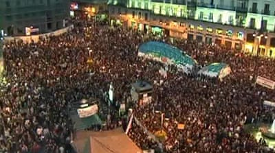 Spain protesters challenge government ban