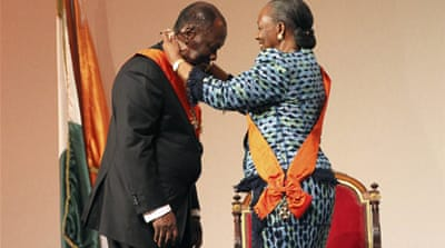 Ouattara sworn in as Ivorian president